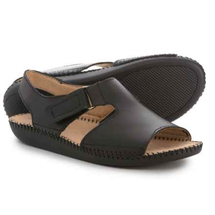 Naturalizer Scout Sandals - Leather (For Women) in Black - Closeouts