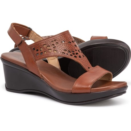 4aff25a06600 Naturalizer Veda Wedge Sandals - Leather (For Women) in Cognac