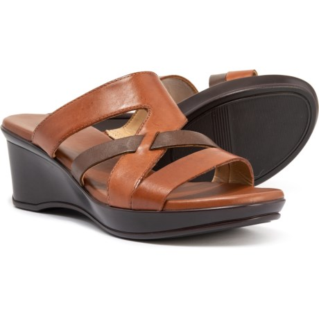 d255c6a254c7 Naturalizer Vivy Slide Sandals - Leather (For Women) in Brown Multi