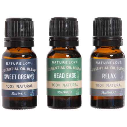 Nature Love Calm the Senses V1 Essential Oil Blends - 3-Pack, 10mL in See Photo - Closeouts