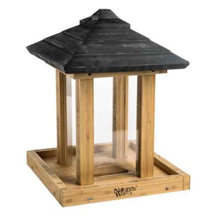 Nature's Way Bamboo Gazebo Feeder in Bamboo - Closeouts