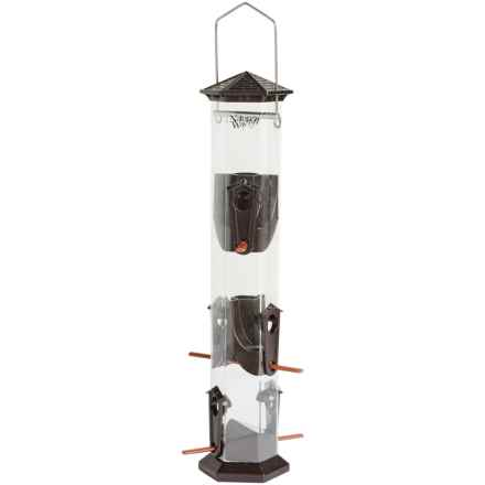"Nature's Way Deluxe Seed Bird Feeder - 17"" in Bronze - Closeouts"