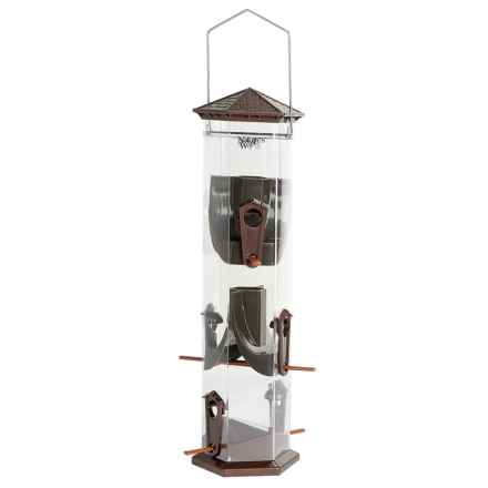 """Natures Way Deluxe Seed Feeder - Wide, 17"""" in Bronze - Closeouts"""
