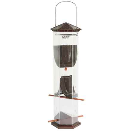 "Nature's Way Deluxe Thistle Bird Feeder - Wide, 17"" in Bronze - Closeouts"