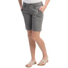 NAU Affinity Shorts - Organic Cotton-Recycled Polyester (For Women) in Cape Heather - Closeouts