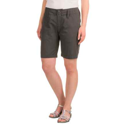 NAU Affinity Shorts - Organic Cotton-Recycled Polyester (For Women) in Caviar Heather - Closeouts