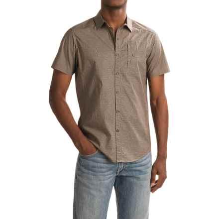 NAU Anti-Dot Shirt - Organic Cotton, Short Sleeve (For Men) in Sable Print - Closeouts