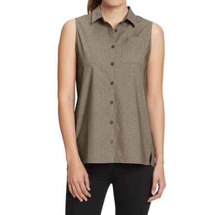 NAU Anti-Dot Sleeveless Top - Organic Cotton (For Women) in Sable Print - Closeouts