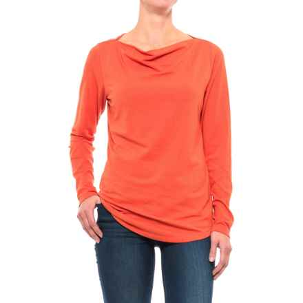 NAU Astir Cowl Neck Shirt - UPF 50, Organic Cotton, Long Sleeve (For Women) in Poppy - Closeouts