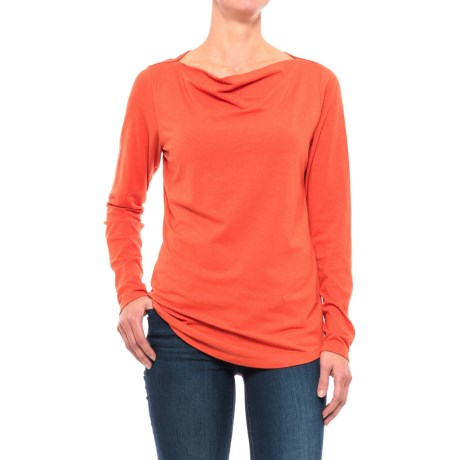 NAU Astir Cowl Neck Shirt - UPF 50, Organic Cotton, Long Sleeve (For Women)