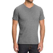 NAU Basis High-V T-Shirt - Organic Cotton, Short Sleeve (For Men) in Charcoal Heather - Closeouts