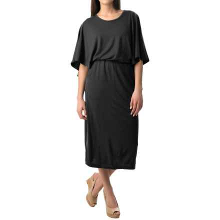 NAU Butterfly Dress - Merino Wool (For Women) in Caviar - Closeouts