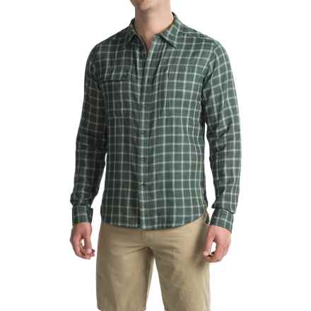 NAU Cohesion Shirt - Organic Cotton, Long Sleeve (For Men) in Meadow Plaid - Closeouts