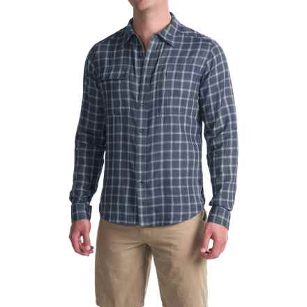 NAU Cohesion Shirt - Organic Cotton, Long Sleeve (For Men) in Prussian Plaid - Closeouts