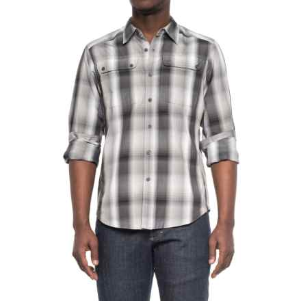 NAU Dissolve Shirt - UPF 30, Long Sleeve (For Men) in Caviar Plaid - Overstock