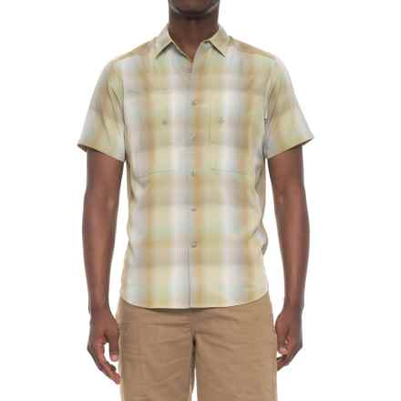 NAU Dissolve Shirt - UPF 30, Short Sleeve (For Men) in Agave Plaid - Overstock