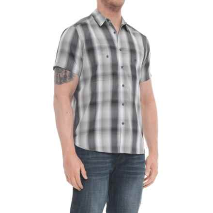 NAU Dissolve Shirt - UPF 30, Short Sleeve (For Men) in Caviar Plaid - Overstock