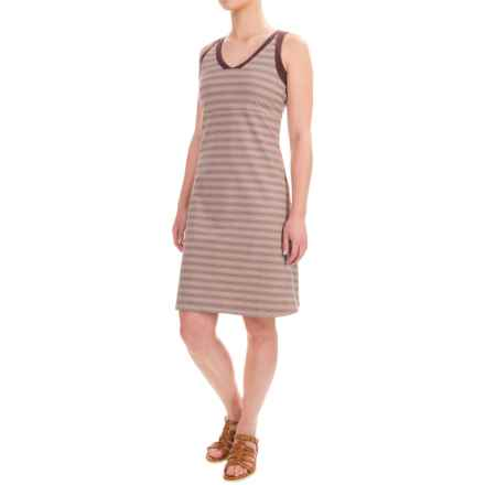 NAU Double Back Dress - Organic Cotton, Sleeveless (For Women) in Ferment Stripe - Closeouts