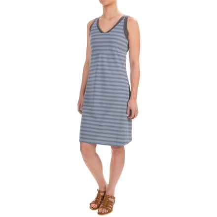 NAU Double Back Dress - Organic Cotton, Sleeveless (For Women) in Fjord Stripe - Closeouts