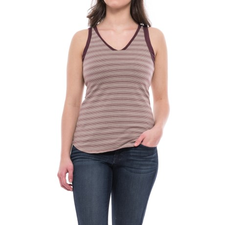 NAU Double Back Tank Top - V-Neck, Built-In Shelf Bra (For Women)