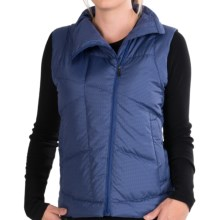 NAU Down Check Vest - 800 Fill Power (For Women) in Cobalt Plaid - Closeouts