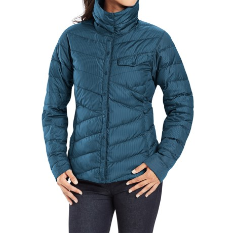 NAU Down Shirt Check Jacket 800 Fill Power (For Women)
