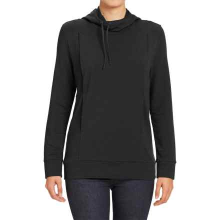 NAU Elementerry Hooded Shirt - Long Sleeve (For Women) in Caviar - Closeouts