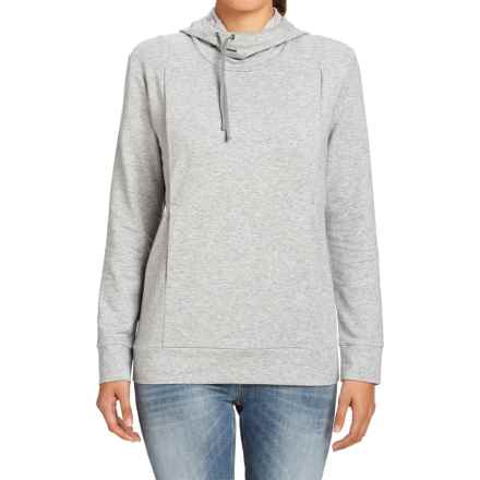 NAU Elementerry Hooded Shirt - Long Sleeve (For Women) in Zinc Heather - Closeouts