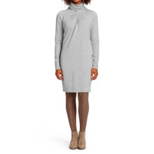 NAU Elementerry Pleat Dress - Organic Cotton-TENCEL®, Long Sleeve (For Women) in Zinc Heather - Closeouts
