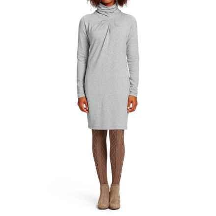 NAU Elementerry Pleat Dress - Organic Cotton-TENCEL®, Long Sleeve (For Women) in Zinc Heather - Closeouts