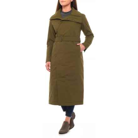 NAU Empire Trench Jacket (For Women) in Bog - Closeouts