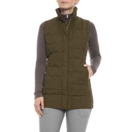 NAU Espalier Poplin Down Vest - Insulated (For Women) in Frond - Closeouts