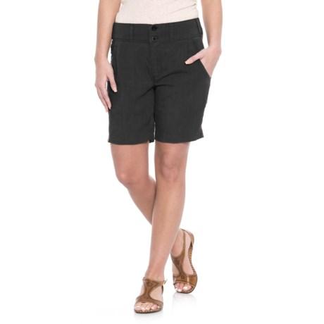 NAU Flaxible Long Shorts (For Women) in Caviar
