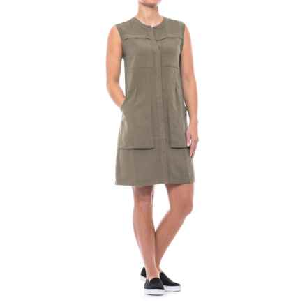 NAU Flaxible TENCEL®-Linen Dress - Sleeveless (For Women) in Sable - Closeouts