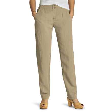 NAU Inte-Great TENCEL® Linen Pants (For Women) in Khaki - Closeouts