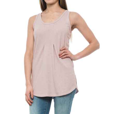 NAU Kanab Hemp-Organic Cotton Tank Top (For Women) in Sand Heather - Closeouts