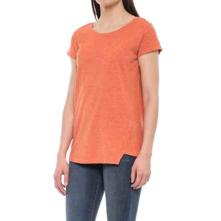 NAU Kanab Shirt - Short Sleeve (For Women) in Poppy Heather - Closeouts