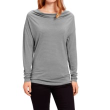 NAU M2 Cowl Neck Shirt - Merino Wool, Long Sleeve (For Women) in Cape Stripe - Closeouts