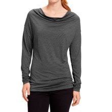 NAU M2 Cowl Neck Shirt - Merino Wool, Long Sleeve (For Women) in Caviar Stripe - Closeouts