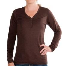 NAU M2 Henley Shirt - Merino Wool-TENCEL®, Long Sleeve (For Women) in Wine Stripe - Closeouts