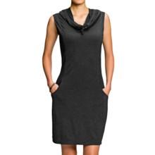 NAU M2 Hoodress Dress - Merino Wool, Sleeveless (For Women) in Caviar Stripe - Closeouts