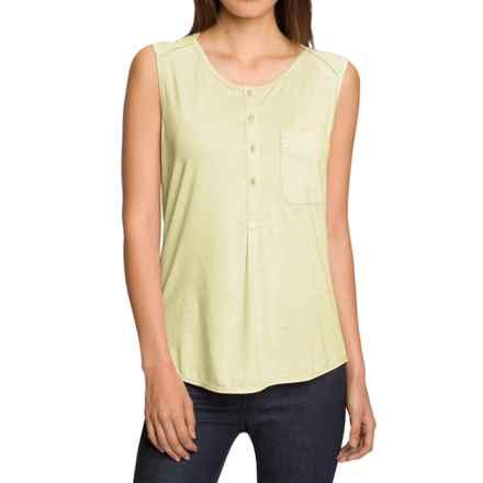 NAU M2 Jersey Henley Shirt - Merino Wool, Sleeveless (For Women) in Cardamom Stripe - Closeouts