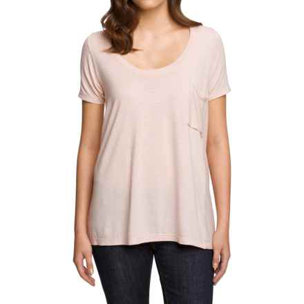 NAU M2 Scoop Neck Shirt - Merino Wool-TENCEL®, Short Sleeve (For Women) in Opal Stripe - Closeouts