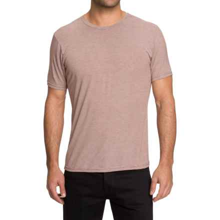 NAU M2 T-Shirt - Short Sleeve (For Men) in Redrock Stripe - Closeouts
