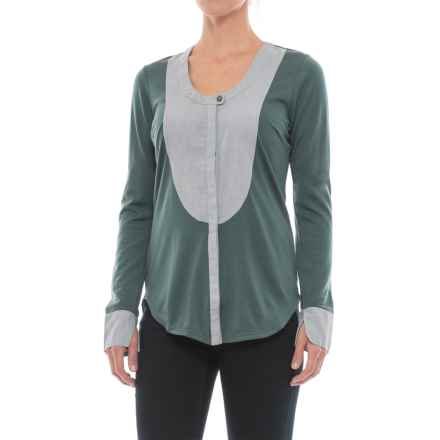 NAU Mixt Shirt - Merino Wool, Long Sleeve (For Women) in Basalt - Closeouts