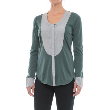 NAU Mixt Shirt - Merino Wool, Long Sleeve (For Women) in Basalt