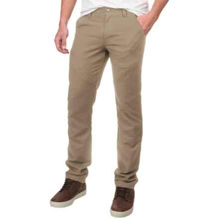 NAU Motil Cargo Pants - Organic Cotton (For Men) in Khaki - Closeouts