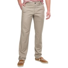 NAU People's Chino Pants - Organic Cotton, Relaxed Fit (For Men) in Khaki - Closeouts