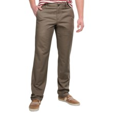 NAU People's Chino Pants - Organic Cotton, Relaxed Fit (For Men) in Tobac - Closeouts