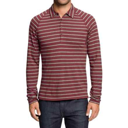 NAU Polonium Shirt - Long Sleeve (For Men) in Adobo Stripe - Closeouts
